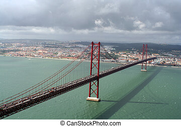 Lisbon bridge 2 - Bridge crossing the River Tejo from Lisbon...