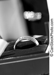 Wedding ring - Close-up detail of groom\\\'s wedding band