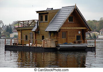 houseboat - a swimming house