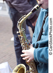 saxophone - child with saxophone
