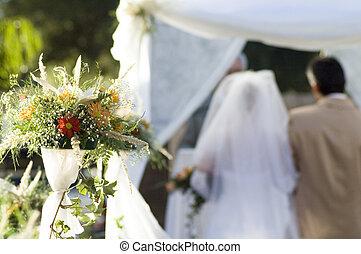 wedding ceremony #2 - wedding ceremony. focus on flowers