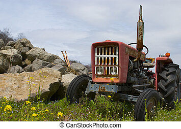 The Old Tractor - An decaying tractor in the Japanese...