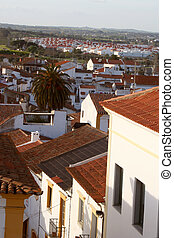 rooftops - overlooking rooftops in Evora, Portugal