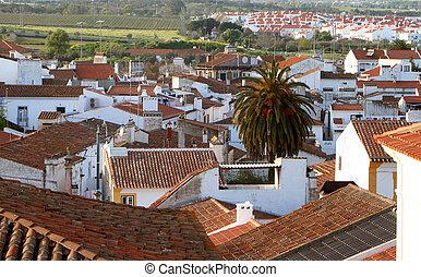 rooftops - overlooking rooftops in Evora, Portugal