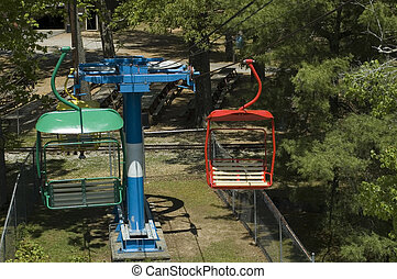 chairlift - turnaround on chairlift ride