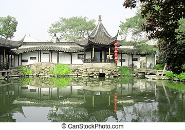 Chinese Garden - This is Wangshi Yuan in Suzhou, China, and...