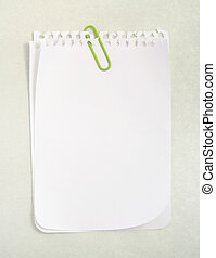 White Notebook Paper with clipping path - White notebook...
