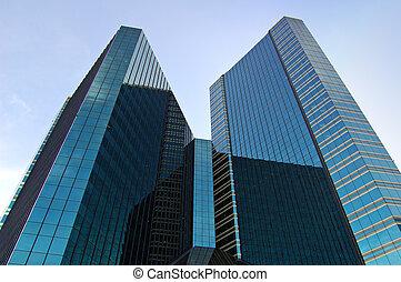 Black towers - Dark glass towerblocks in Bangkok