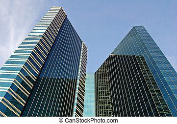 Dark towers - Glass towerblocks in Bangkok