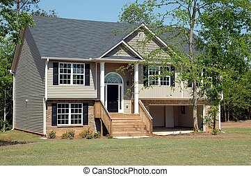 New Home Building - Photographed a new home being built in...