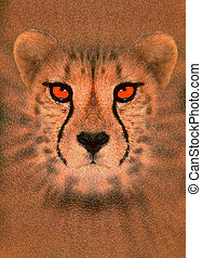 Enhanced cheetah - Digitally enhanced portrait of a cheetah