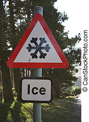 警告, 氷, 印