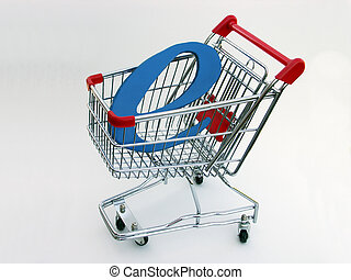 E-Commerce shopping cart (side view) 2 - A miniature...
