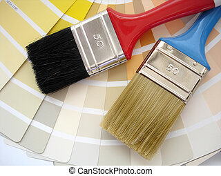 Interior decorating - brush