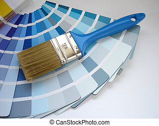 Interior decorating - brush and color samples