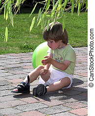 wounded child (B) - wounded child in the sun