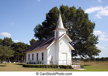 Small Rural Church in Texas - A small rural church in Texas...