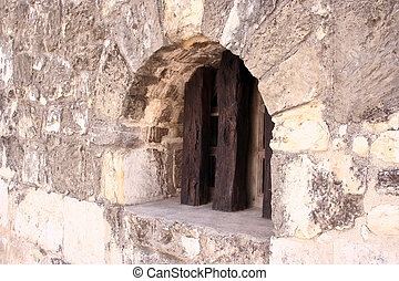 Window at the Alamo - An old window at the Alamo. Will make...