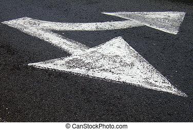 Arrow Sign - Arrow road sign