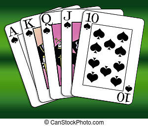 Royal Flush of spades
