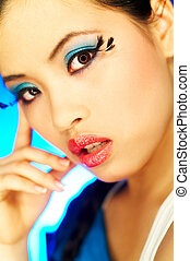 Artificial Eyelashes 2 - Portrait of attractive beautiful...