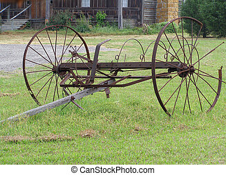 Old Farm Equipment - Antique farm equipment by old farm...