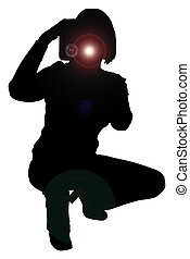 Silhouette Photograp - Silhouette over white with clipping...
