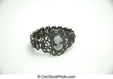 Cameo Bracelet - Rhinestone and cameo bracelet jewellery
