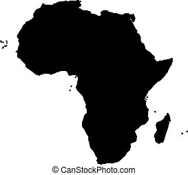 Africa silhouette