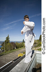 Tae Kwon Do - Photo of a boy in his Tae Kwon Do suit