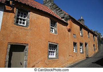 Cottages Culross, Fife, Scotland