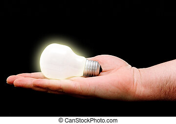 Sharing Ideas - Concept : handing out bright ideas