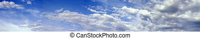 billowing clouds - a panoramic view of billowing clouds
