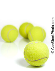 Tennis balls - Yellow tennis balls isolated on a white...