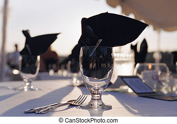 Wine Glass - Wine glass at wedding reception