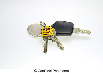 Bunch Of Keys - Bunch of keys with door keys and car key