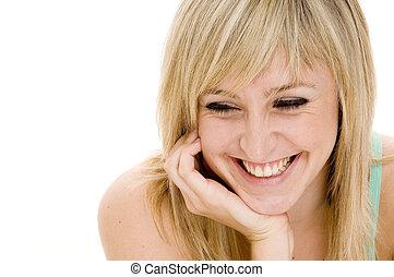 Joy - A young woman enjoys a happy moment