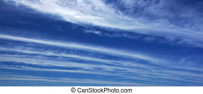 Cloud Panoramic - Deep blue sky and clouds