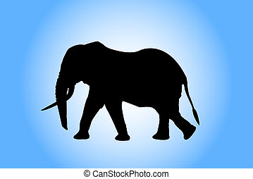 mammals, art, elephant, drawing, black, nature, animal