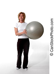 work out time - exercising with core training ball