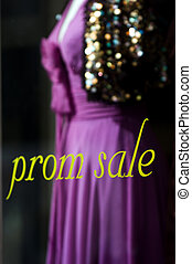 Prom sale - Formal dresses in the mall