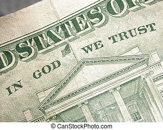 In God We Trust - the phrase In God We Trust appeaing on the...