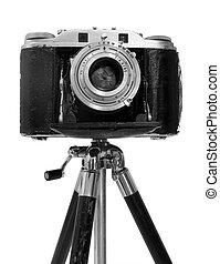 Vintage Camera on tripod - Vinatage Camera on tripod over...