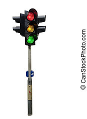 Traffic Light Isolated - An isolated traffic light from...