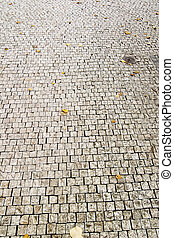 Cobblestone texture in Prague.