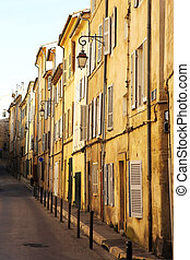 Aix-en-provence #14 - A backstreet in Aix-en-Provence,...