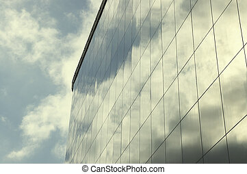 corporative building and sky reflection - corporative...