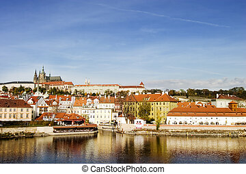 Prague Castle - Prague castle from a distance, overlooking...