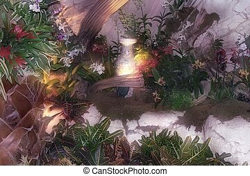 Mystic garden - Photo of mystic garden in Las Vegas Mirage...