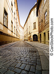 Quaint Street Prague - A quaint tiny alley Seminarska in...